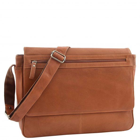 Mens Leather Flap Over Messenger Bag Cheriton Tan