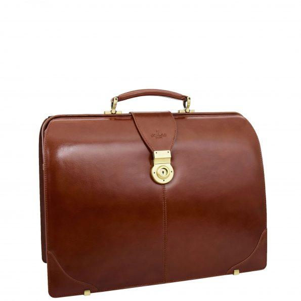 Real Leather Doctors Gladstone Bag Canterbury Cognac