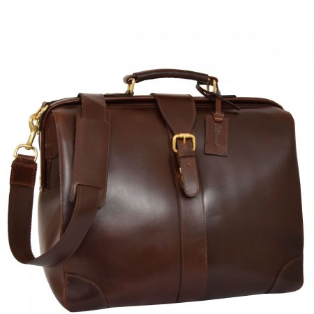 Brown Leather Doctors Briefcase Medics Bag