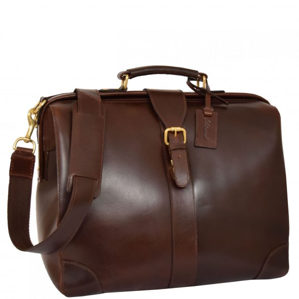 Real Leather Doctors Briefcase Medics Bag Cortex Brown