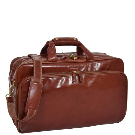 Expandable Holdall with Garment Carrier Seville Cognac