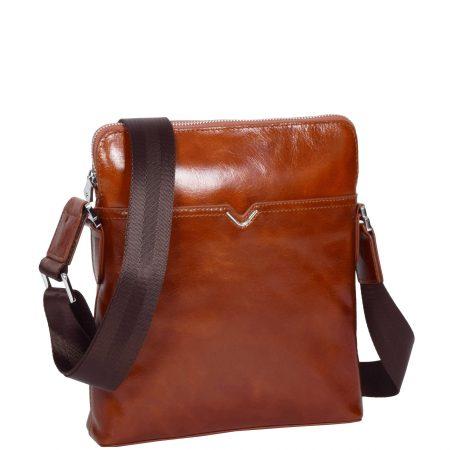 Italian Leather Flight Bag H9819 Tan