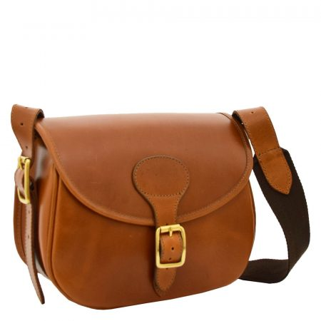 Leather Cartridge Bag 90 Rounds Capacity Neo Tan