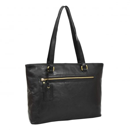 Womens Leather Classic Shopper Bag Lima Black