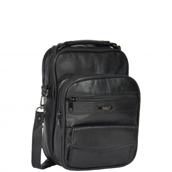 Multi Pocket Leather Bag HOL8541 Black