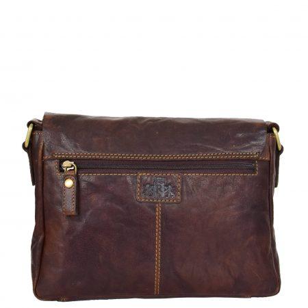 Womens Leather Classic Cross Body Shoulder Bag Hazel Brown
