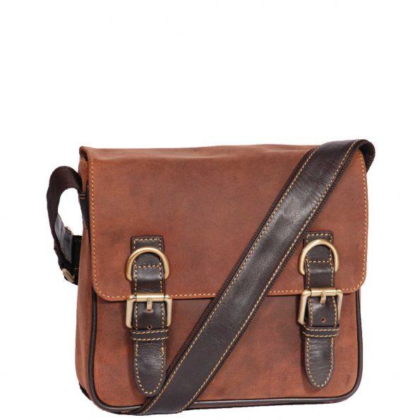Satchel Style Leather Flight Bag HOL12 Tan