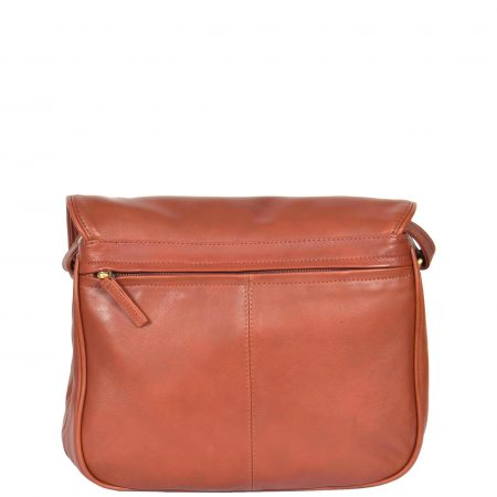 Womens Classic Cross Body Leather Bag Vancouver Brown
