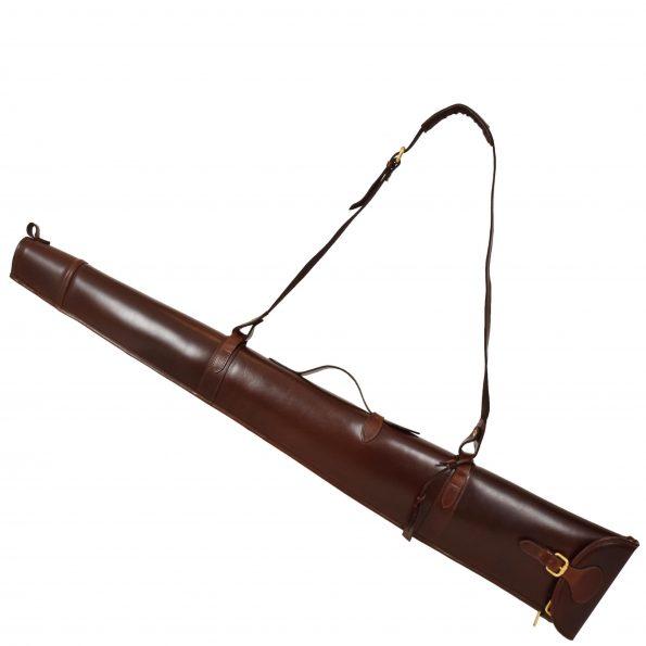 Leather Gun Slip with Shoulder Strap Brown