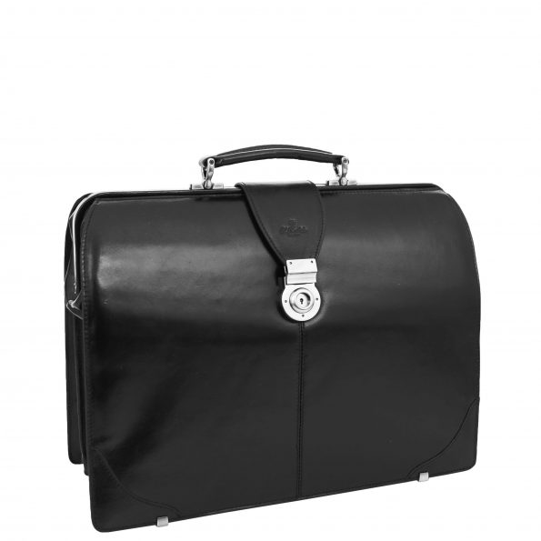 Real Leather Doctors Gladstone Bag Canterbury Black