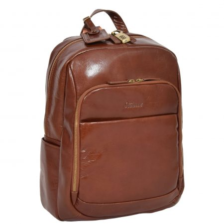 Exclusive Leather Organiser Rucksack Peru Chestnut Tan