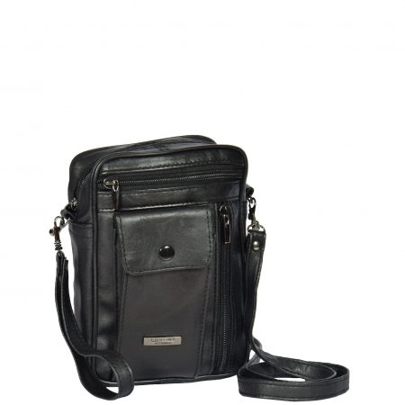 Small Bag with a Wrist Strap HOL954 Black