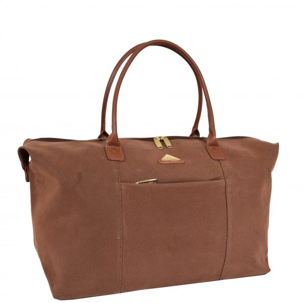Womens Faux Suede Large Shopping Tote H047 Tan