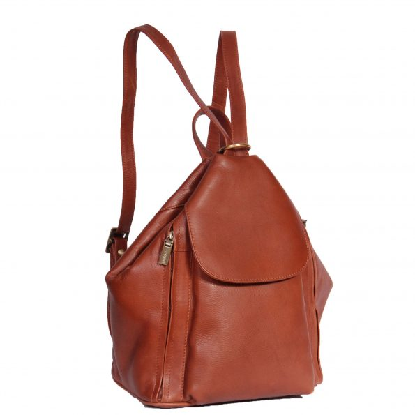 Ladies Leather Backpack Rome Brown