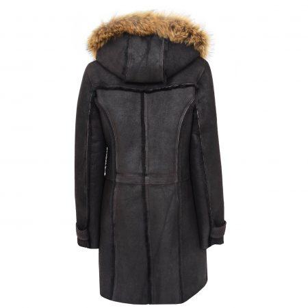 Women's Sheepskin Duffle Coat 3/4 Length Parka
