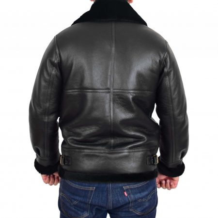 Men's Classic B3 Original Sheepskin Jacket Black