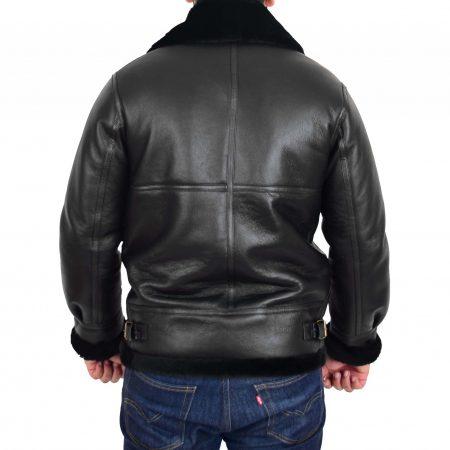 Men's Classic B3 Original Sheepskin Jacket Black