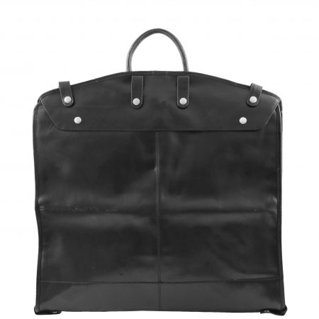 Real Leather Slimline Garment Carrier Taipei Black