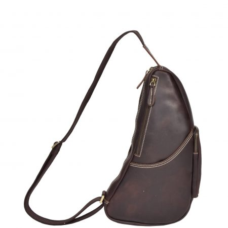 Vintage Leather Back Bag H8059 Brown