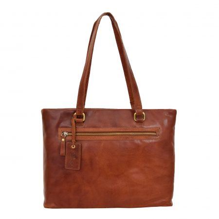 Womens Leather Classic Shopper Bag Lima Tan