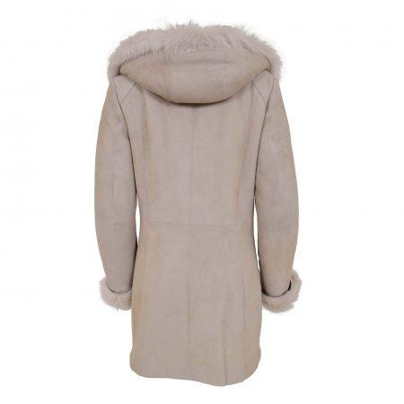 Women's Sheepskin Coat Toscana Trim Hoodie