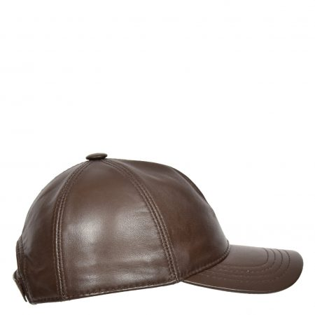 Classic Leather Baseball Cap Brown