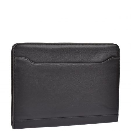 Portfolio Case with Notepad and Calculator Black