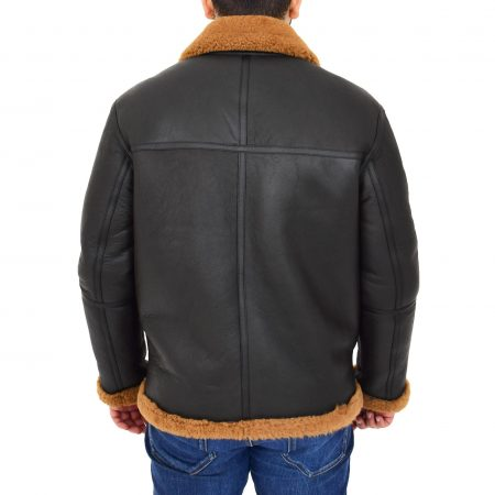 Original RAF Flying Sheepskin Jacket Tyler Brown Ginger