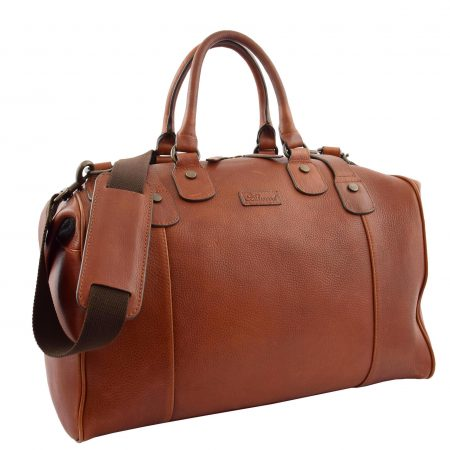 Luxury Leather Travel Holdall Duffle Coleford Tan