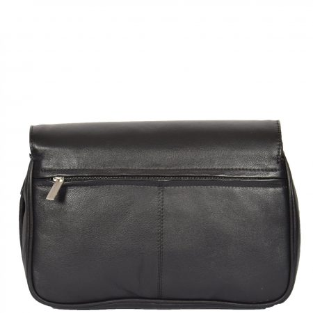 Womens Leather Classic Organiser Bag Matilda Black