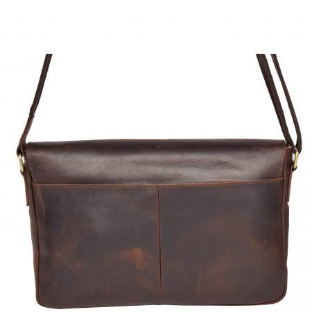 Women's Vintage Leather Flap Over Bag