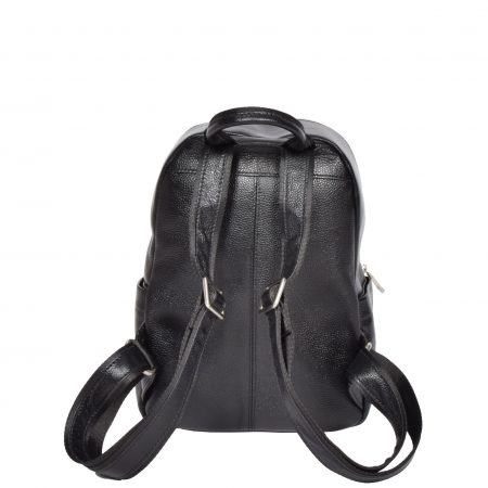 Small Size Leather Classic Backpack H135S Black
