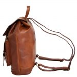 Real Leather Classic Vintage Rucksack Eli Tan