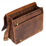 Mens Leather Cross Body Flap over Bag Vegas Tan