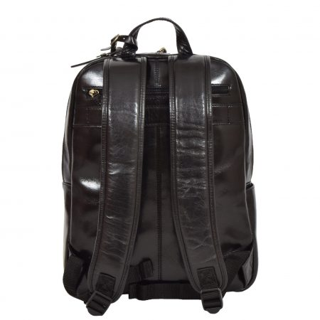 Exclusive Leather Organiser Rucksack Peru Black