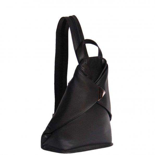 Walking Travel Leather Backpack HOL258 Black