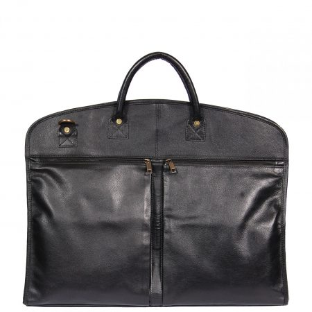 Real Leather Suit / Dress Carrier HOL933 Black