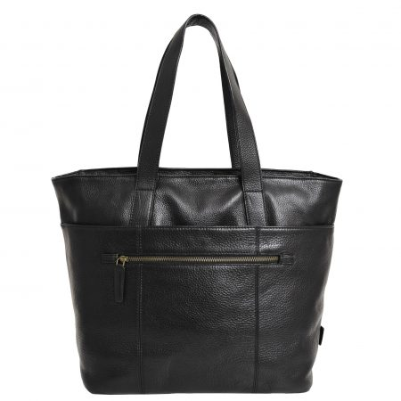 Womens Real Leather Tote Shoulder Bag Jordana Black