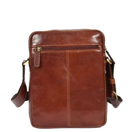 Mens Cross Body Leather Tablet Bag Weipa Tan