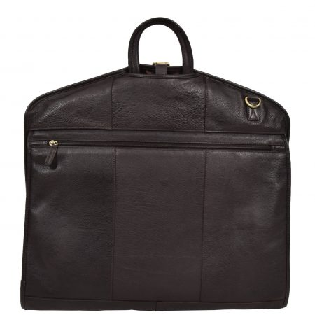 Luxury Leather Slimline Garment Carrier Keswich Brown