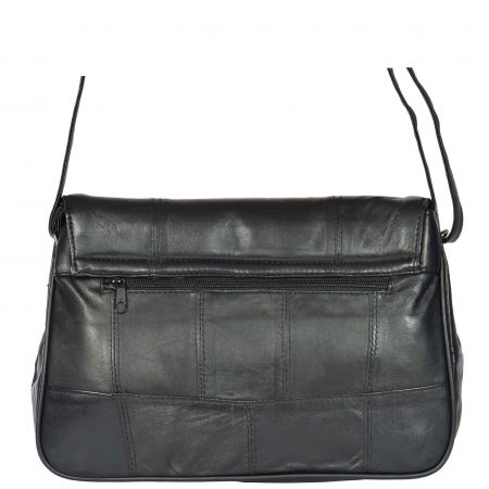 Flap Over Shoulder Bag HOL979 Black