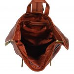 Walking Travel Leather Backpack HOL258 Brown