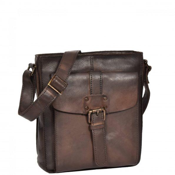 Mens Vintage Leather Small Organiser Bag HOL3799 Brown