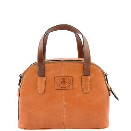 Womens Leather Small Evening Handbag Camilla Tan