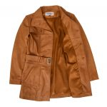 Women's Leather Trench Coat with Belt