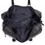 Soft Leather Sports Barrel Bag Porto Black