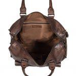 Vintage Leather Lightweight Duffle Bag HOL7799 Brown