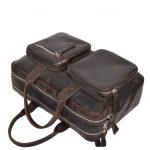 Men's Vintage Leather Organiser Briefcase