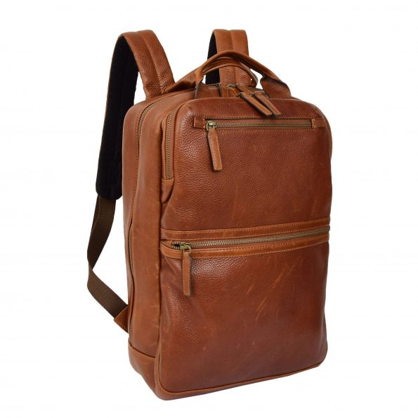 Real Leather Travel Backpack Ray Tan