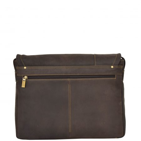 Mens Leather Messenger Laptop Bag Berlin Brown